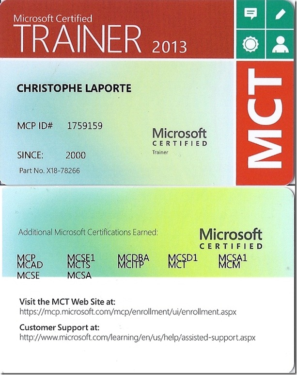 MCT2013 WalletCard
